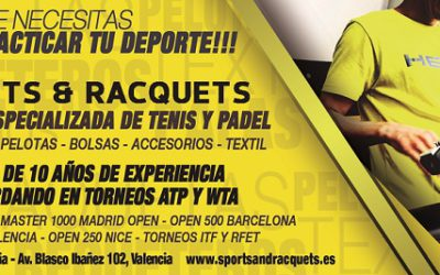 Sports & Racquets encordador oficial del BBVA Open Valencia
